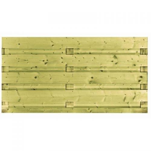 Vuren scherm 9 planks 90x180 cm. (103288)