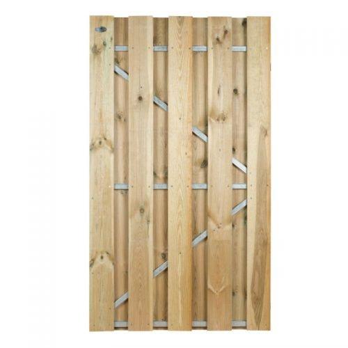 Grenen poort 180x100 cm. met stalen frame universeel (133065) Actie!