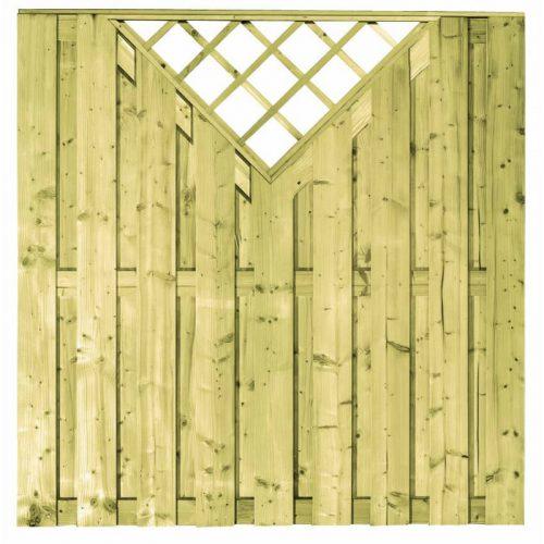 Vuren scherm met venster 17 planks 180x180 cm. (103295)