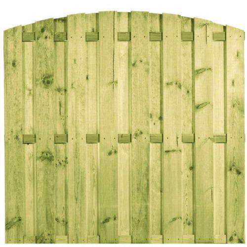 Grenen toogscherm 15 planks 180x180 cm. (103438) Actiescherm!