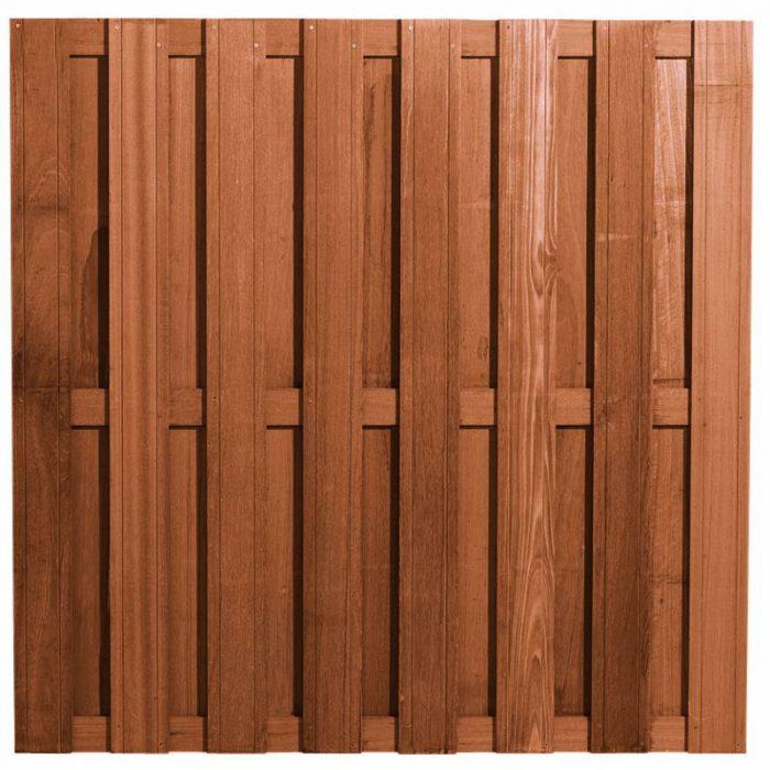 Hardhouten scherm 15 planks 180x180 cm. (132955) Actiescherm!