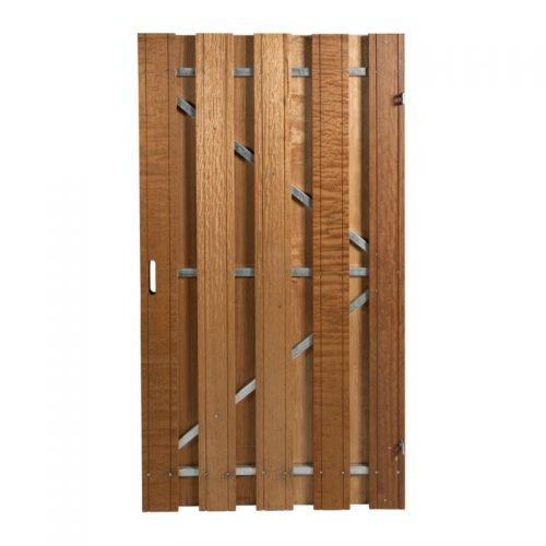 Hardhouten poort 180x100 cm. met stalen frame universeel (135410)