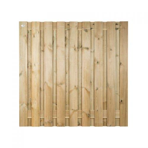 Grenen scherm 180x180 cm. 19 planks