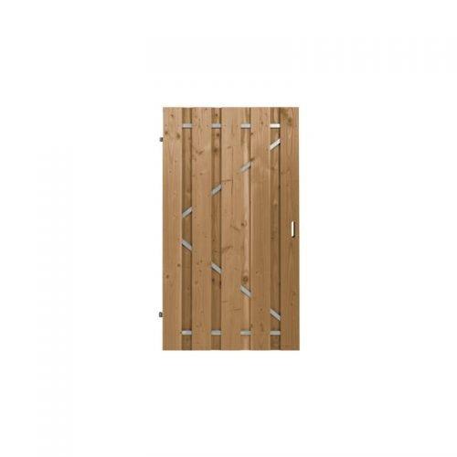 Douglas poort geschaafd 180x100 cm. met stalen frame universeel (103455)