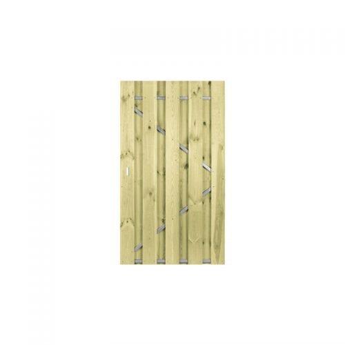 Grenen poort 190x120 cm. met stalen frame universeel (133062)