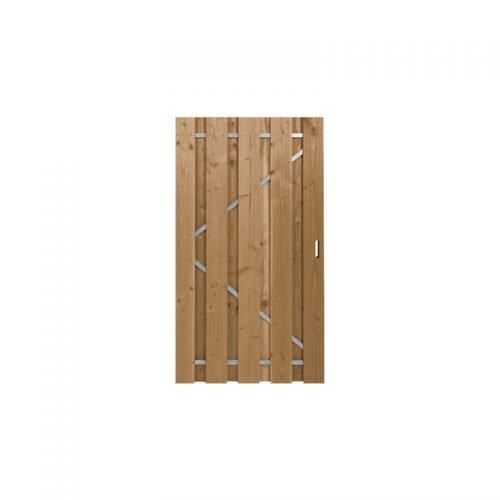 Douglas poort ruw 180x100 cm. met stalen frame universeel (133064)