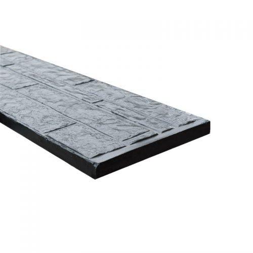 Onderplaat rotsmotief breed gecoat mat (103376)