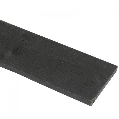 Vuren Plank 2.2x20x420 cm. zwart