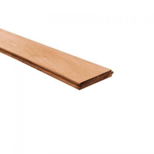 Azobe damwand geschaafd 0.3x18.5 cm.