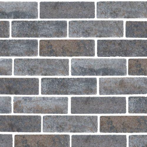 Eco Bricks Maeslant Bruin/Zwart 7x21x8 cm. Gardenlux