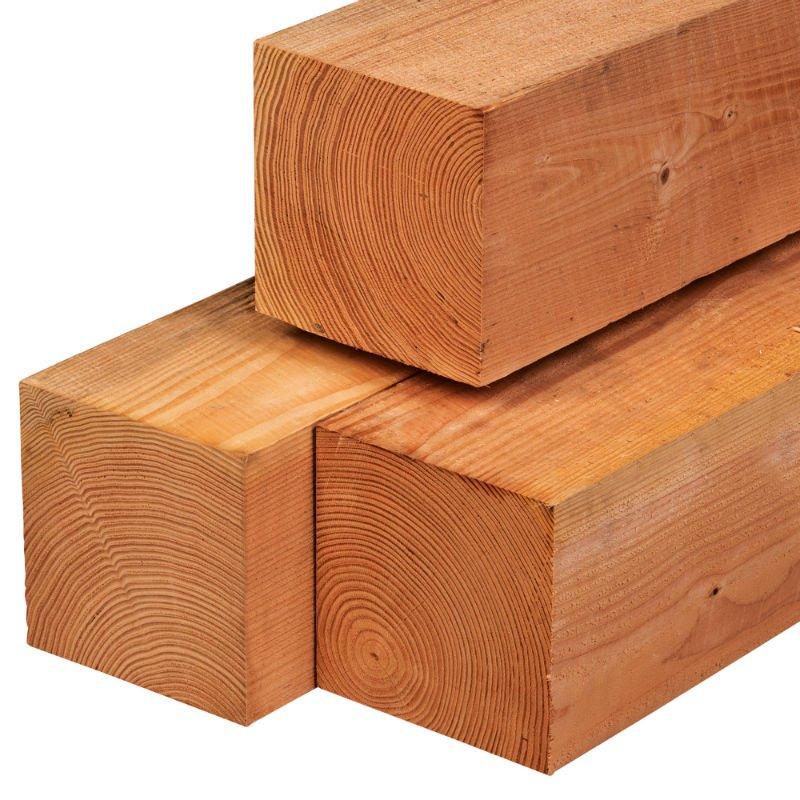 Red Class Wood palen 20 x 20 cm. Tuindeco