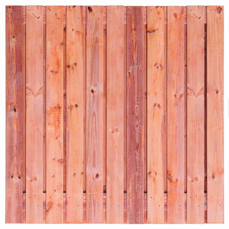 Red Class Wood scherm Agadir 180x180 cm. 21 planks Tuindeco